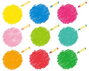 Fototapeta crayon collection Vector クレヨン obraz