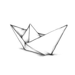 Einfaches Papierschiffchen