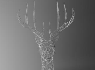 deer Low polygon linear