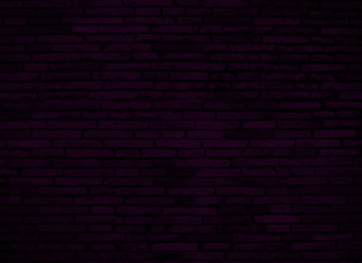 dark purple brick wall for background or texture