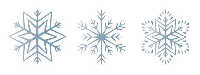 Schneeflocke 12er-Set #1 – eisblau