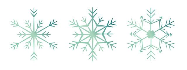 Schneeflocke 3er-Set #2 – retro