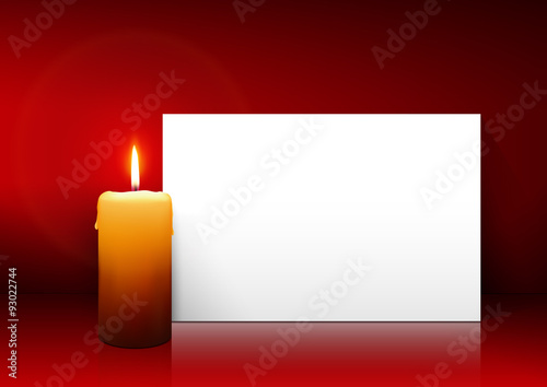 Erster advent vorlage f r weihnachtskarte gru karte einladungskarte leuchtende kerze mit - Vorlage weihnachtskarte ...