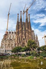 Scenic view of the Sagrada Familia, Barcelona