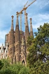 Gothic exterior of the Sagrada Familia