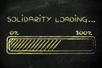 solidarity loading, progess bar illustration