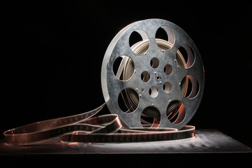 reel of film in retro