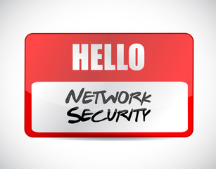 network security name tag sign concept