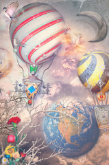 Anywhere out of the world - Hot air balloons in the sky