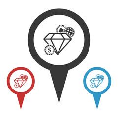 Illustration of  icons gambling