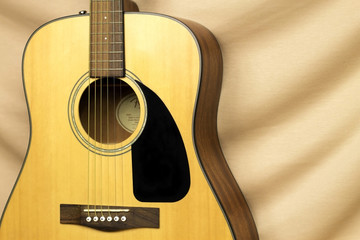 Beautiful acoustic guitar on background