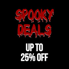 halloween deals sale 25% banner