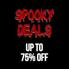 halloween deals sale 75% banner