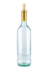 Empty bottle isolated on white background