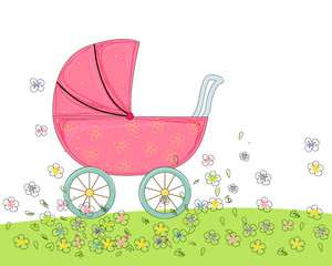 Sketch baby carriage