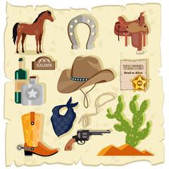Elements of Wild West Cactus Revolver Hat
