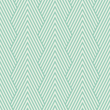 Seamless turquoise art deco optical chevron mountains pattern vector