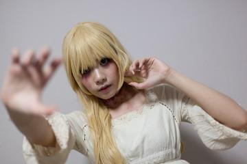 Portrait of an asian halloween girl