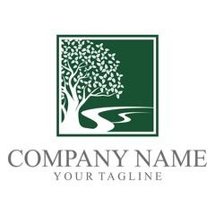 Green Oak Tree Logo