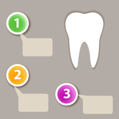 Dental infographics.