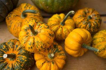 Orange and Green Pumpkins Decor