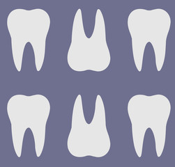 Teeth silhouette pattern.