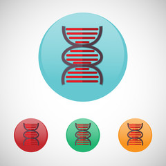 Dna spiral vector icon set.