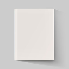 Blank book cover with long shadow. Vector illustration