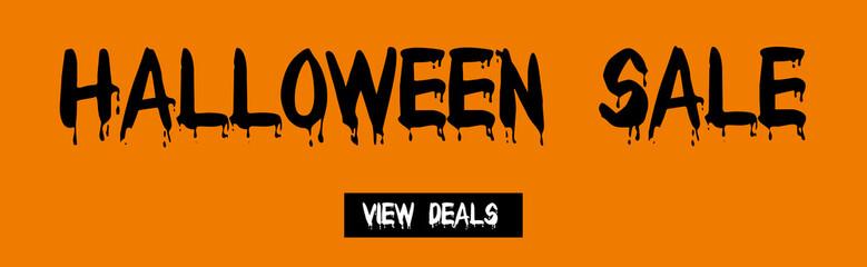 Halloween sale deals web banner 2015 with view deals button