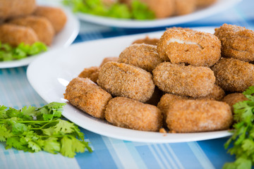 Deep fried breadcrumbed kroketten