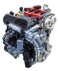 Five cylinder car engine