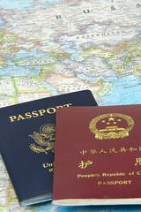 US and China Passports