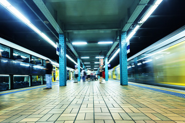Aluminium Prints Train Station Sydney subway platform