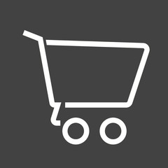 Cart, empty, trolley, basket icon vector image. Can also be used for eCommerce, shopping, business. Suitable for use on web apps, mobile apps and print media.