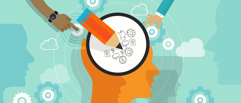 design thinking creative process mind brain left right