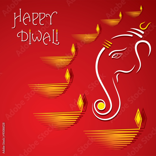 Happy diwali greeting card design vector stock image and royalty happy diwali greeting card design vector m4hsunfo