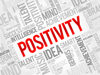 Positivity word cloud, business concept