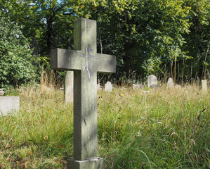 Tombs and crosses at goth cemetery
