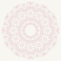 Oriental Abstract  Round Pattern