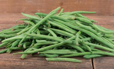Heap of fresh green beans