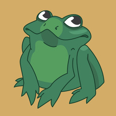 drawing funny frog