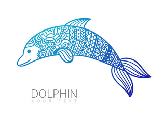 ornamental dolphin illustration