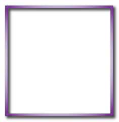 Illustration of purple empty, single, colorful, web, internet, square frame.