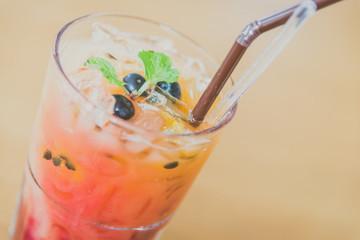 Mix fruit moctails drink