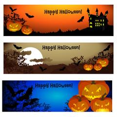 Three Halloween banners.