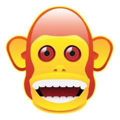 Vintage musical jolly chimp head