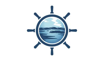ship wheel circle image,