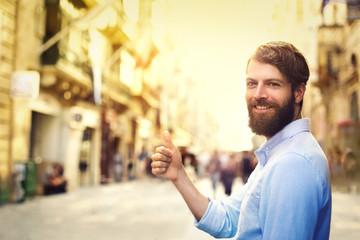 Happy handsome man Fotomurales
