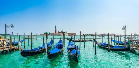 Gondolas on Canal Grande, San Marco, Venice, Italy
