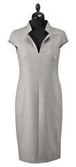 Fototapeta luxury female gray dress on clothier s rack isolated on white ba obraz